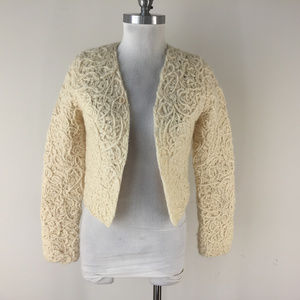 Anthropologie Sleeping On Snow S Ivory cardigan